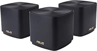 ASUS ZenWiFi AX Mini Whole Home Dual band Mesh WiFi 6 System (XD4)- 3 Pack Charcoal, coverage up to 4800 sq.ft & 25+ devic...