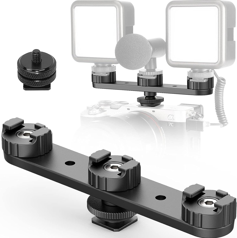 Camera Cold Shoe Extension Mount Pla DSLR Hot Triple PT-23 Max 70% OFF High order