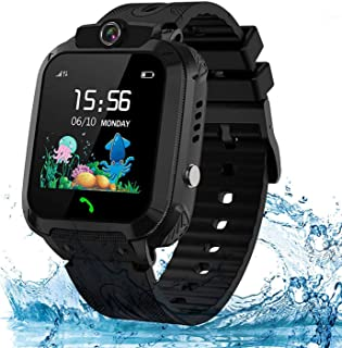Themoemoe Kids Smartwatch Phone, Kids Waterproof Smart Watch Phone GPS Tracker with SOS Two Way Call for 3-12 Year Old Boy...