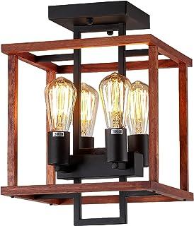 4-Lights Farmhouse Semi Flush Mount Ceiling Light...