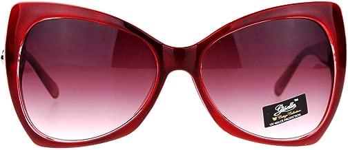 SA106 Unique Oversized Cat Eye Hybrid Butterfly Sunglasses