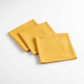 DOUCEUR D'INTERIEUR Suavidad Interior 3 servilletas de 40 x 40 cm, Amarillo, 40 x 40 cm