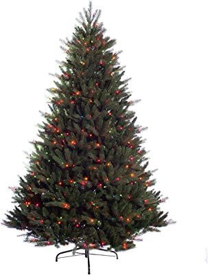 Puleo International 7.5 Foot Pre-Lit Premier Douglas Fir Artificial Christmas Tree with 800 UL Listed Multi-Color Lights, Green