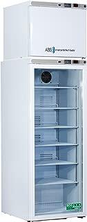 American BioTech Supply ABT-HC-RFC12GA Premier Combination Refrigerator/Freezer, AUTO DEFROST, 2 Solid, 12 cu. ft. Capacity, White