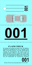 Valet Parking Tickets (1000) - Vehicle Claim Tags with Car Diagram - Valet Stubs Perforated - Auto Key Tags 3 Part Blue - Index Stock 110Lb Numbered 000-999 - by SavQuickPrinting (1000)