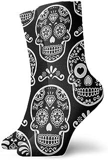 Hunter qiang, Calcetines para mujer y hombre, calcetines mexicanos, calaveras, sin costuras, calcetines deportivos, 30 cm