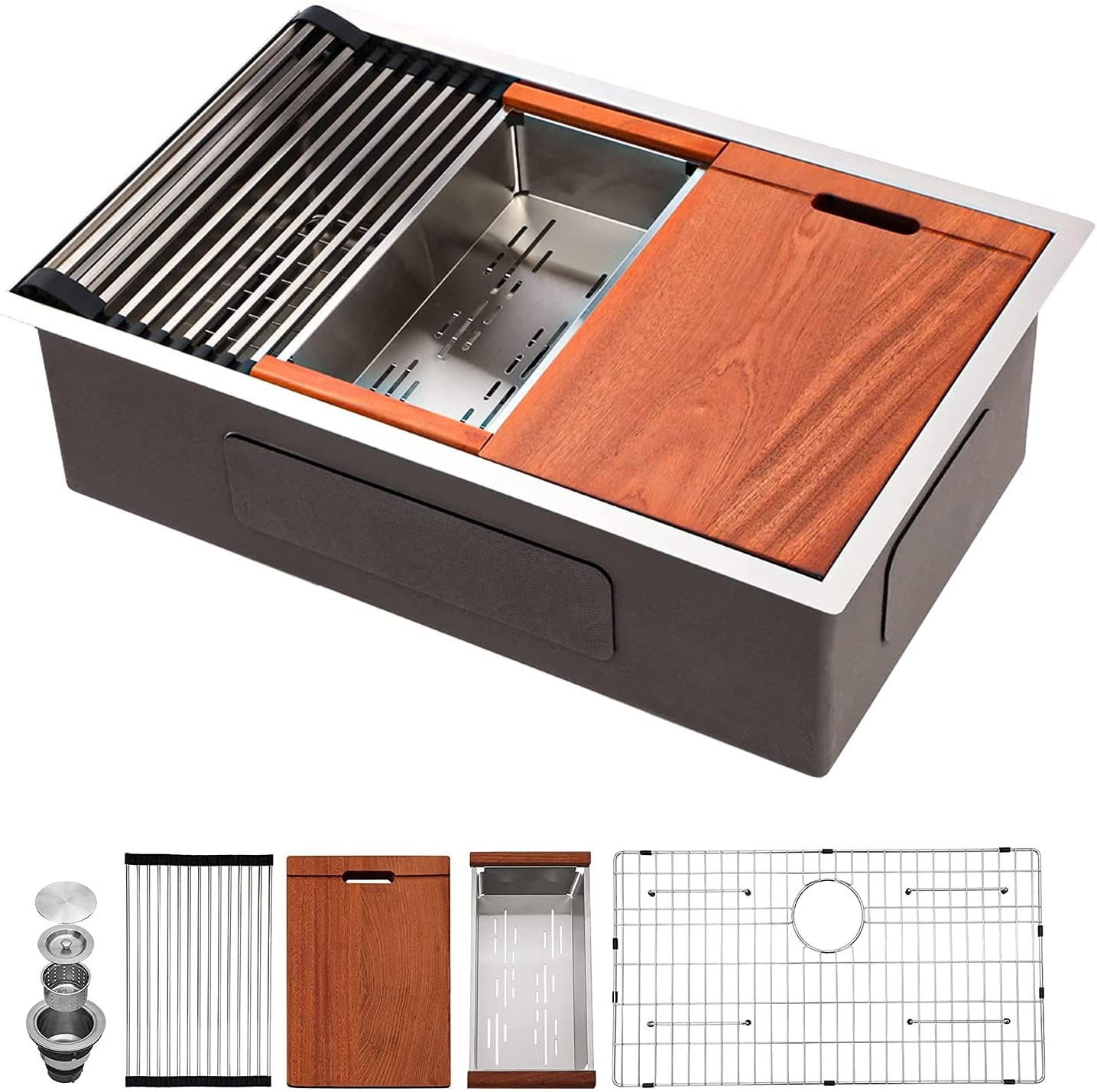 Undermount Low price Workstation Kitchen Sink 33 - Inch Same day shipping 16 Mocoloo x19