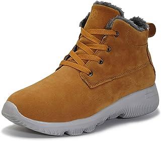 Hsyooes Bottes Homme Femme Bottes De Neige Hiver Fourrées Chaudes Bottines Chaussures de Randonnée Baskets Bottes Trekking