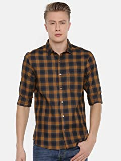 Chennis Men's Rust Casual Shirt