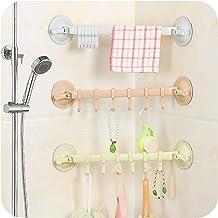 Locking Type Powerful Suction Cup 6 Hooks Kitchen Bathroom Bathroom Wall Hook Nail-free Seamless Multi-purpose Hook Towel ...