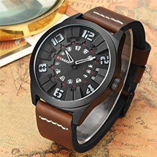 Curren Casual Watch For Men Analog Leather - M-8258-3