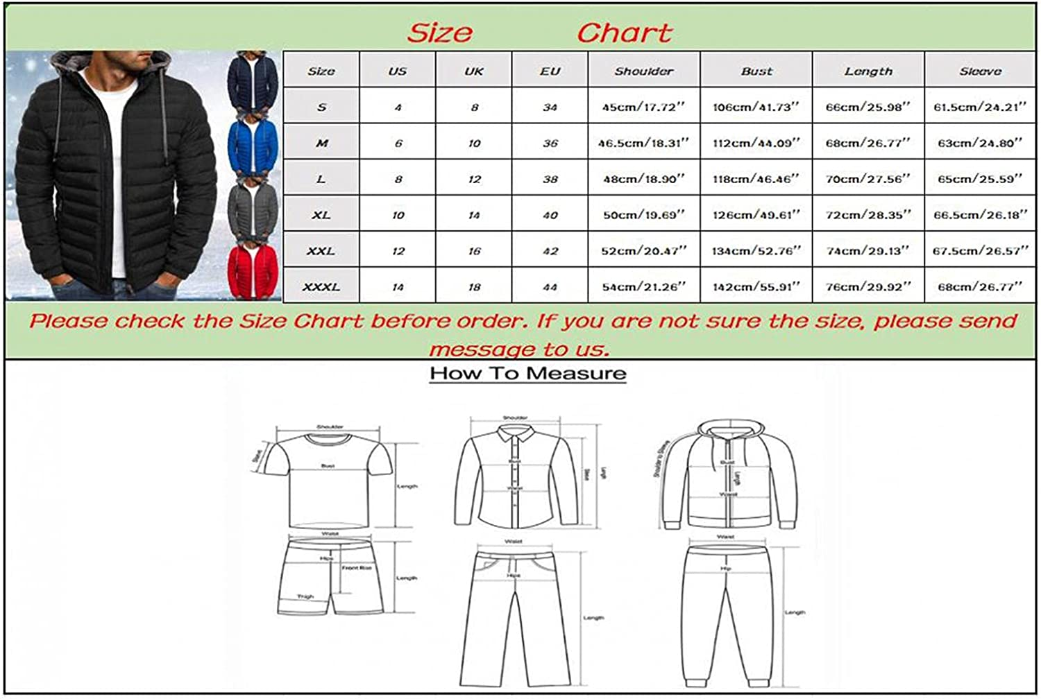 LEIYAN Mens Hooded Cotton Down Jackets Zip Up Long Sleeve Heavyweight Casual Winter Thermal Puffer Coat Outerwear