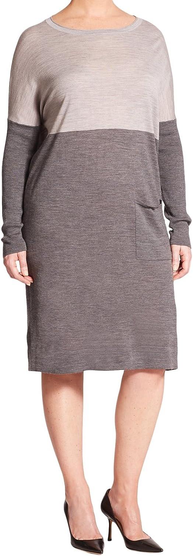 Marina Rinaldi Women's Giara TwoTone Sweater Dress Grey