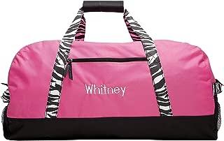 zebra print cheer bags