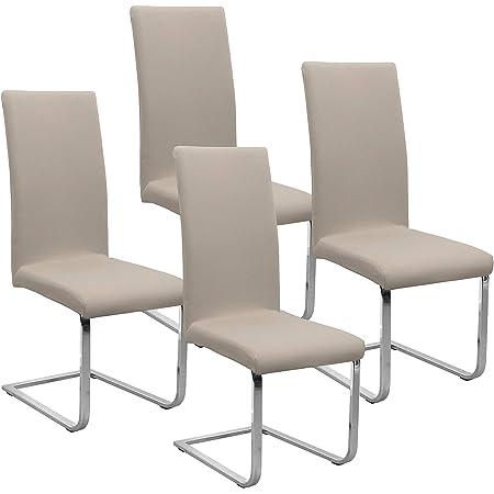 Stretch Stuhlhusse Husse Bezüge Set für Bürostuhl Drehstuhl Chefstuhl Beige