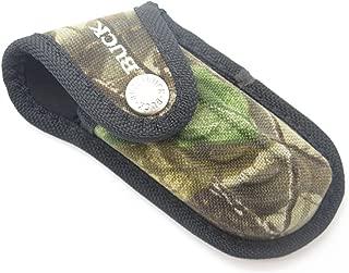 Buck 395 Omni Hunter 10 Pt Camo Nylon Folding Pocket Knife Sheath Hunting