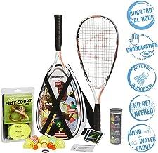 Speedminton S900 Set - Original Speed Badminton/crossminton Professional Set with 2 Carbon Rackets incl. 5 Speeder, Playing Field, Bag