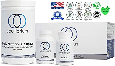 Equilibrium Nutrition 7 Day Detox by Dr. Cabral, Chocolate Flavored, Whole Body Transformation, Scientifically Researched, Weight Loss System. All Natural Cleanse, Organic Superfood Nutrients