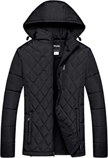 Mens Hooded Puffer Jacket Thicken Cotton Coat Jacket
