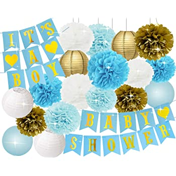 Blue White And Gold Party Decorations  from m.media-amazon.com