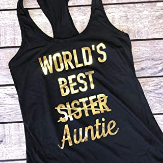 Auntie Shirt | Pregnancy announcement tank top for Aunt