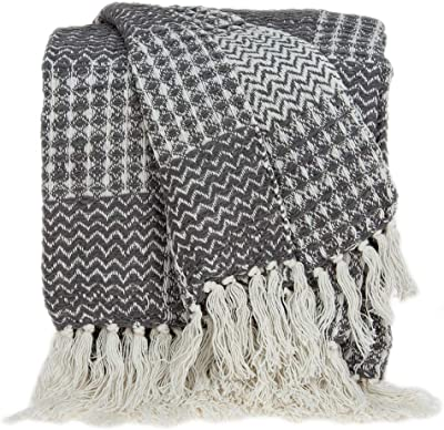 Amazon.com: Parkland Collection THRE21031 - Manta de algodón ...