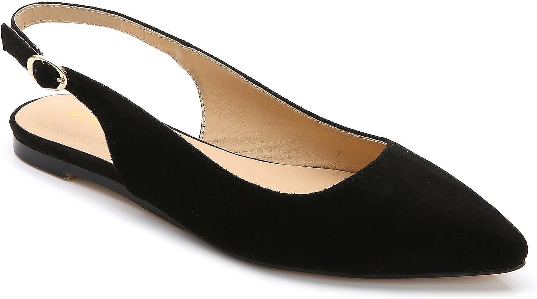 ComeShun Womens shoes Closed Pointed Toe Flats Slingback Dress Pumps