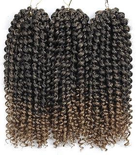 3Pcs/lot Jerry Curl Crochet Braids Hair Extensions Freetress Deep Twist Water Wave For Women Synthetic Crochet Braiding Ha...