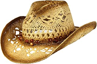 83fb5132503 Saddleback Hats Shapeable Toyo Straw Cowboy Hat w Beaded Trim Band