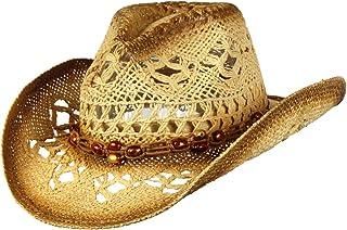 f7c29ec44ef44b Saddleback Hats Shapeable Toyo Straw Cowboy Hat w/Beaded Trim Band, Western  Cowgirl