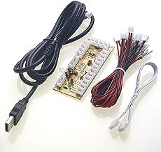 Easyget Zero Delay Arcade Game USB Encoder PC to Joystick for MAME & Raspberry Pi Retropie Projects SANWA Parts