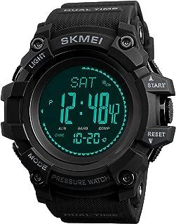 Compass Watch Army, Digital Outdoor Sports Watch for Men Women, Pedometer Altimeter Calories Barometer Temperature Waterproof