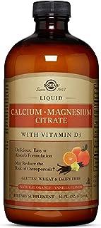 Solgar Liquid Calcium Magnesium Citrate with Vitamin D3 - Delicious Natural Orange-Vanilla Flavor, 16 oz - Supports Strong, Healthy Bones & Teeth - Gluten Free, Dairy Free, Kosher - 32 Servings