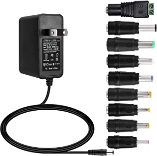 ALSISK 12V 1A 12W Power Supply Adapter,Power Plug for Home Appliances,CCTV Camera,WiFi Routers,Hubs,LED Strips,Telekom,T-Com,Speedport,Radiowecker,Scanner,Switch,ESCAM QD300+9 Different Plugs