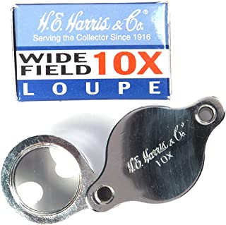 Coin Supplies H.E. Harris & Co. 10x Magnification Collectors Wide Field Loupe Retired - Zoom 9ANC1638-HE by Coin Supplies