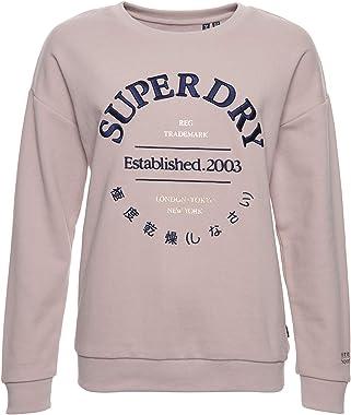 Superdry Applique Serif Crew Sweat-Shirt Femme