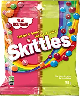 Skittles Sweet & Sour Candy 191g/6.73oz Peg Bag {Imported from Canada}