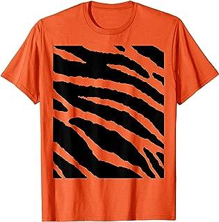 Tiger Stripes Animal Halloween Costume DIY Tiger Belly T-Shirt