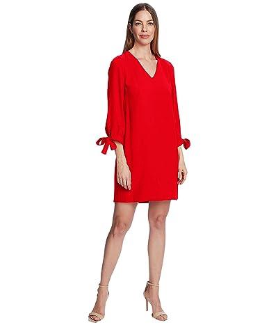 CeCe 3/4 Tie Sleeve V-Neck Dress