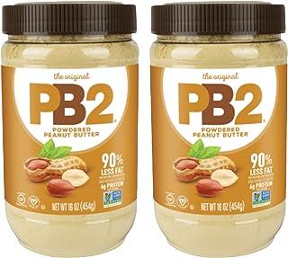 Bell Plantation PB2 Powdered Peanut Butter, 1 lb Jar (2 Pack)