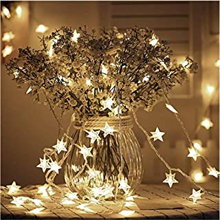 220V Star String Lights Battery Operated with 5M 50 LED Twinkle Lights for Bedroom Curtain Wedding Birthday Holidays Room...