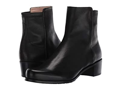 Stuart Weitzman Easyon Reserve (5050) Bootie (Black Dress Nappa/Stretch Nappa) Women