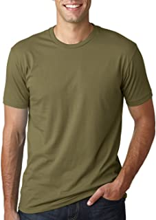 Next Level Mens Premium Fitted Short-Sleeve Crew T-Shirt - Military Green + Cool Blue (2 Pack) - Large
