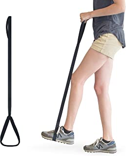RMS 42 Inch Long Leg Lifter - Durable & Rigid Hand Strap & Foot Loop - Ideal Mobility Tool for Wheelchair, Hip & Knee Replacement, Bed or Car (42 Inch Long)