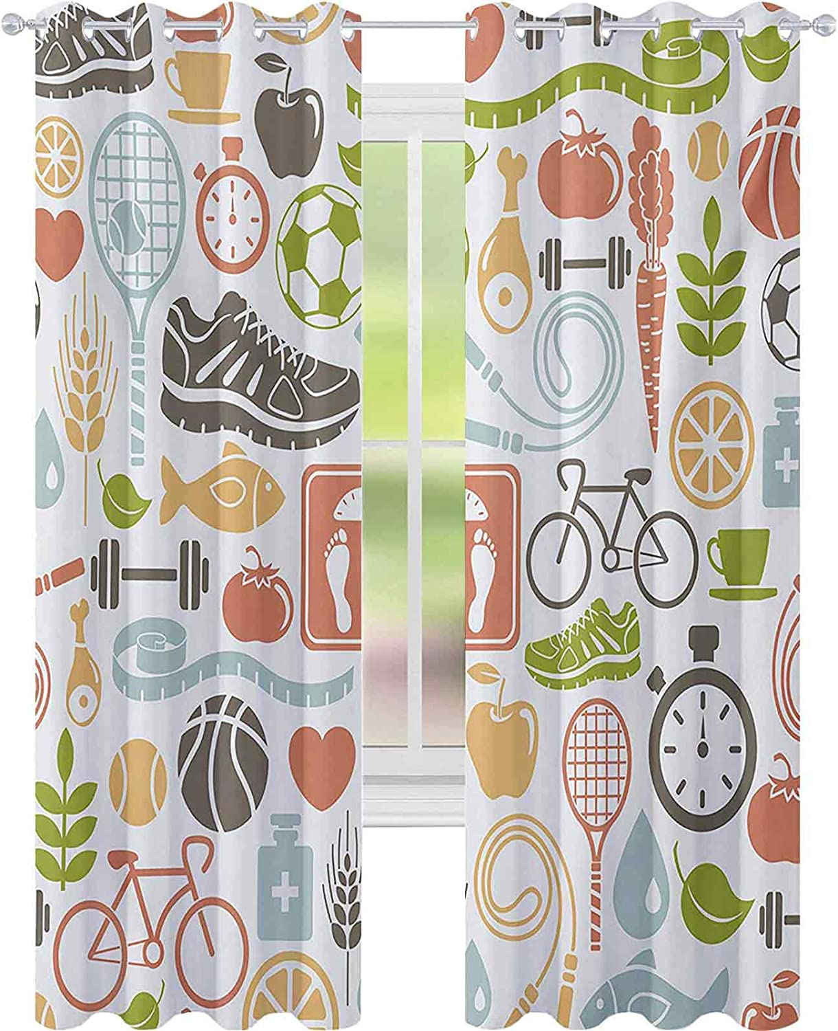 Now free shipping Thermal Insulated Curtains Retro Materials Super popular specialty store Symbo Sports Various
