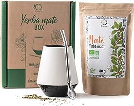ORIGEENS MATE TEE ZESTAW z kubkiem Mate, Bombilla i herbatą BIO Yerba Mate   Ceramiczny kubek do herbaty mate   Oryginalny...