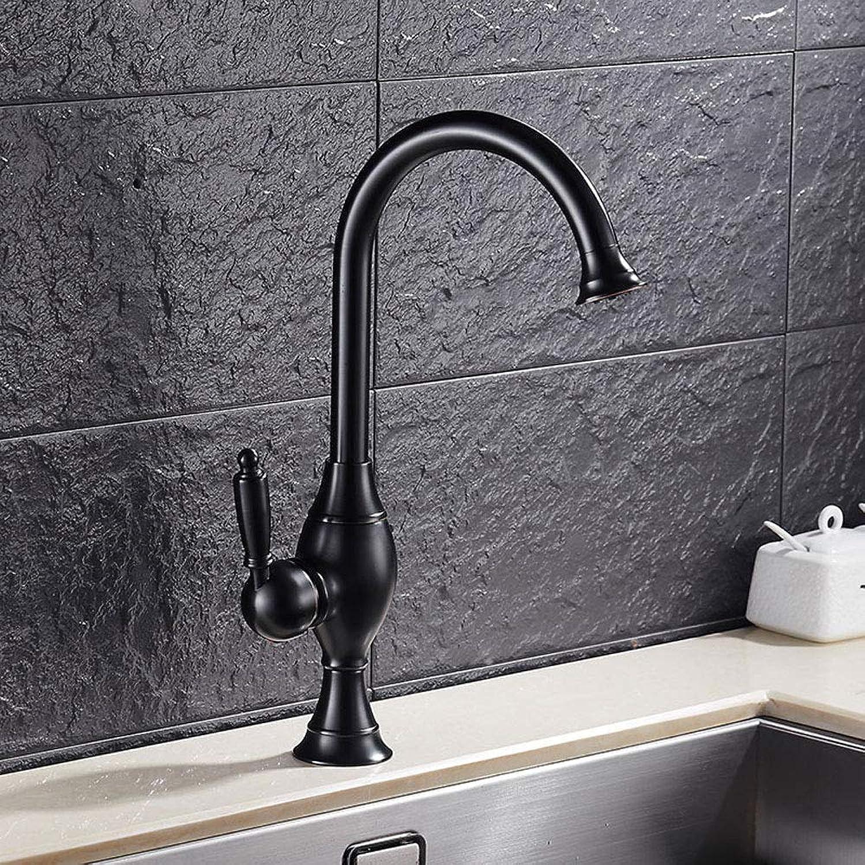 Retro Schwarz Hohe Bad Wasserhahn Nostalgie Waschtischarmatur 360°Drehbar Aufsatz Waschbecken Armatur Einhebelmischer Mischbatterie Badarmaturen Hoher Auslauf Badzimmer aus Messing Gebürsteter