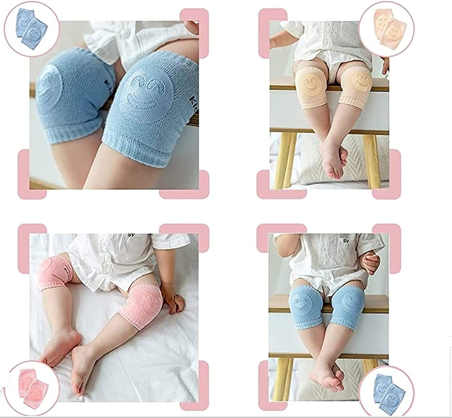Anti-Slip Baby Crawling Knee brace/Unisex Baby Toddlers Knee pads crawling support protector knee pads