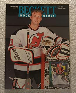 Martin Brodeur - New Jersey Devils - Beckett Hockey Card Monthly Magazine - #48 - October 1994 - Back Cover: Jaromir Jagr (Pittsburgh Penguins)