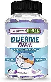 comprar comparacion DUERME BIEN – Melatonina Pura 100% Asimilada de Absorción Sublingual + Vitamina B6 | Para un Descanso Profundo y Reparador...